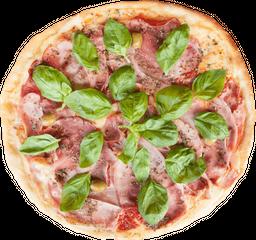 Pizza Mozzarella, Jamón y Albahaca
