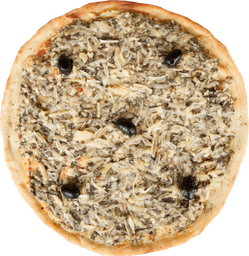Pizza Mozzarella, Espinaca y Parmesano
