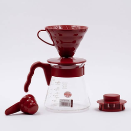 Hario Cafetera Kit Cafetera V60 Rojo