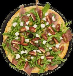 Pizza de Jamón Crudo, Rúcula y Tomates Secos