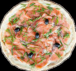 Pizza Salmón Ahumado, Queso Crema y Ciboulette