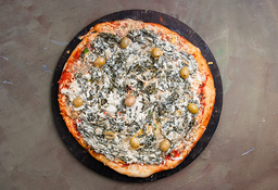 Pizza de Verdura & Salsa Blanca