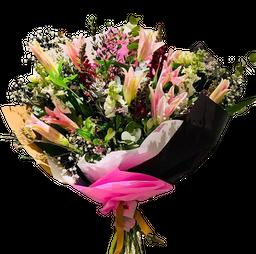 The Flower Company Ramo Super de Lilium-Conejitos-Alelies-Nardos