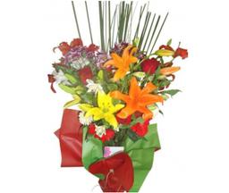 The Flower Company Jarrón Con Flores Variadas L