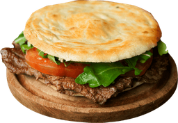 Sándwich de Lomo, Tomate y Rúcula