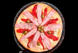 Pizza Jamón Horneado, Mozzarella y Morrones