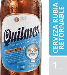 Cerveza Rubia Quilmes Clásica Retornable 1 L