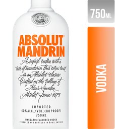 Vodka Absolut Mandrin Suecia