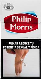 Caja De Cigarrillos Philip Morris Box 10