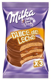 Alfajor Milka Triple Dulce De Leche 70Grs