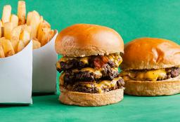 Hamburguesa Antivirus & Cheeseburger Jr