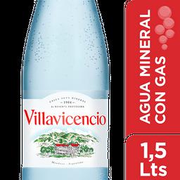 Agua Mineral Con Gas Villavicencio 1.5 L