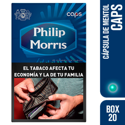 Philip Morris Cigarrillos Caps Box 20U