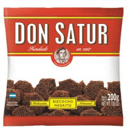 Galletitas Don Satur Azucar Negra X 200 Grs