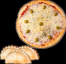 Pizza Muzzarella & 12 Empanadas