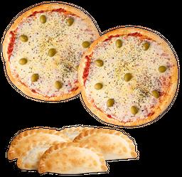 Pizza Muzzarella Full & 12 Empanadas