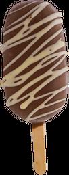 Paleta Rellena de Chocolate Blanco y Frambuesa