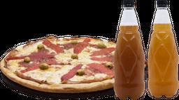Promo Birra y Grande de Jamón y Morrones