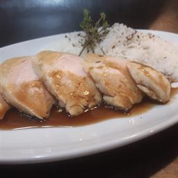 Pollo en Teriyaki con Arroz