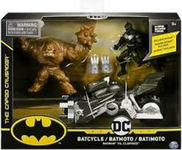 DC COMIC BATIMOTO CON FIG BATMAN Y CLAY FACE 10 CM