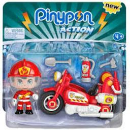 PIN&PON ACTION MOTO DE BOMBERO CON FIG.Y ACC