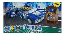PIN&PON ACTION AUTO + MOTO DE POLICIA C/FIG Y ACC.