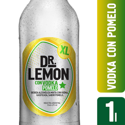Aperitivo Dr. Lemon Con Vodka Y Pomelo 1 L