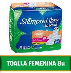Toalla Femenina Siempre Libre Especial 8 U