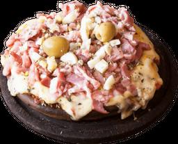 Pizza de Panceta y Huevo