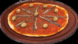 Pizza grande de anchoas