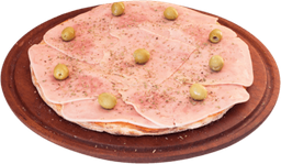 Pizza de jamón grande