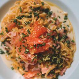 Spaghetti Salmón