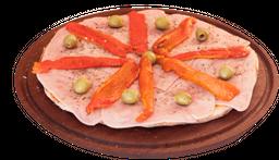 Pizza de jamón & morrón grande