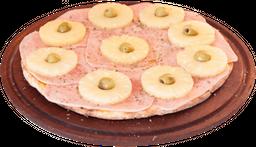 Pizza de jamón & ananá grande