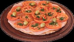 Pizza de napolitana & jamón grande