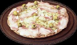 Pizza de fugazzeta con jamón & panceta