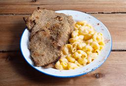 Milanesa con Mac & Cheese