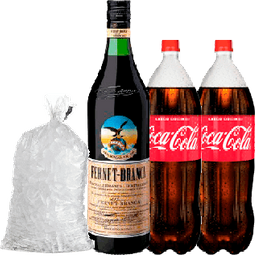 Combo Fernet + 2 Coca Cola + Hielo
