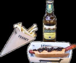 Hot Dog + Papas + Cerveza