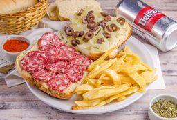 Sándwich Sopresatta & Cerveza