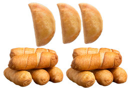 3 Empanadas & 12 Tequeños