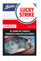 Lucky Strike Cigarrillo Parisiennes Blend Box