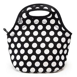 Built Ny Lunchbag Gourmet Getaway Big Dots B&W