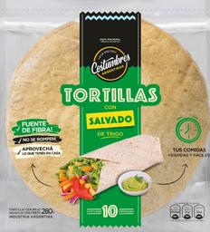 Tortilla Salvado de Trigo X 10