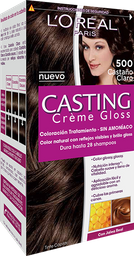 Tintura Sin Amoniaco Casting Gloss De L'Oréal 500Castaño X45Gr