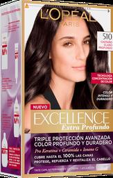 Tintura Permanente Excellence L'Oréal 510 Castaño X47Gr