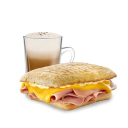 Tostado Jamón y Cheddar & Café