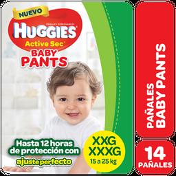 PAÑALES HUGGIES ACTIVE SEC PANTS pa±al x14u XXG