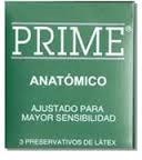 Preservativo  Prime Anatomicos x 3 U