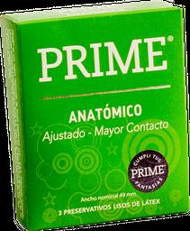 Preservativos Prime Anatomico  X 3U
